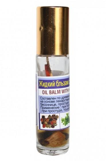 Жидкий бальзам-ингалятор на лекарственных растениях.