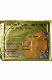 Маска для лица с коллагеном и биозолотом 24К. 24K Active Gold Collagen face Mask.
