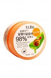 Увлажняющий крем с алоэ и улиточной слизью. Aloe&Snail Care Facial Cream.
