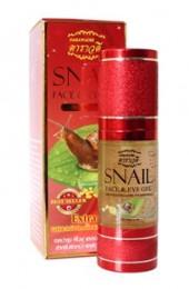 Золотой гель для лица и кожи век с улиткой и коллагеном. Darawadee Snail Face and Eye Gel.
