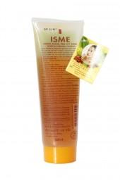 Натуральная очищающая маска-плёнка с мёдом и куркумой . Isme Herbal Facial Peel-Off Mask Honey and Curcuma.