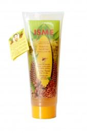 Натуральная очищающая маска-плёнка с мёдом и куркумой Isme.
