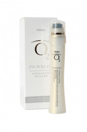 2 в 1 Лифтинг-сыворотка и массажёр для кожи глаз. Mistine O2 Eye Roll On.