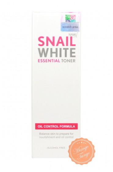 Улиточный тонер для проблемной, жирной кожи Snail White Namu Life.