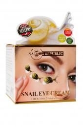 Лифтинговый крем под глаза с улиточной слизью. Nature Republic Snail Eye Cream.