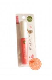 Блеск для губ с улиточной слизью. Цвет №3 Pink Autumn.  Baby Bright Lip Snail Gloss.