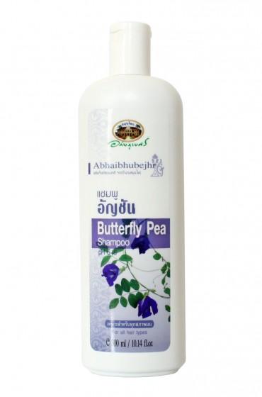 Шампунь от выпадения волос с синим чаем и лавандой. Abhaibhubejhr Buttrfly Pea Shampoo.