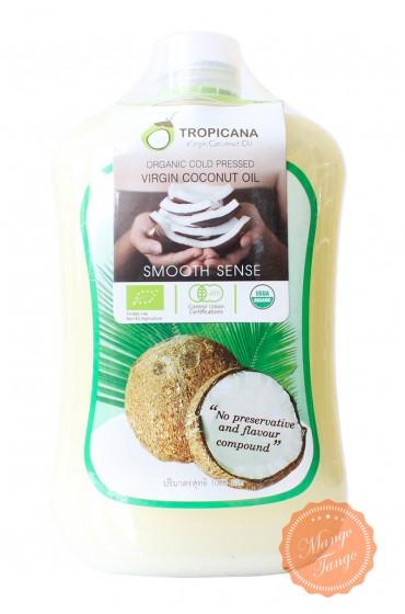 Кокосовое масло первого холодного отжима Тропикана. Tropicana virgin coconut oil.