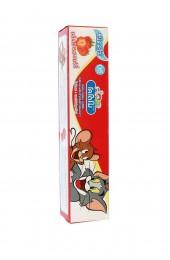Тайская детская зубная паста Кодомо Клубничка. Kodomo Lion Xylitol Plus Special Toothpaste.