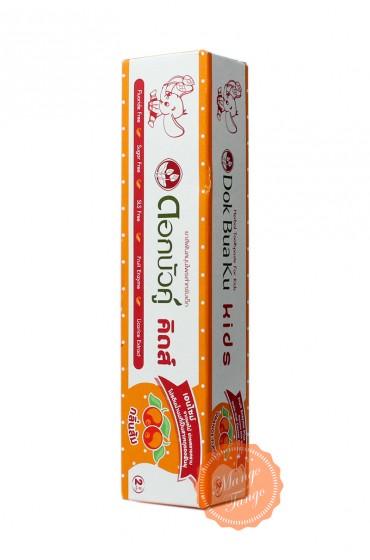 Детская зубная паста Twin Lotus апельсин.