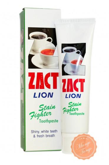 Зубная паста от кофейного налёта.  Zact Lion Stain Toothpaste.
